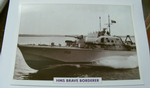 HMS Brave Borderer 1958 patrol warship framed picture (22)
